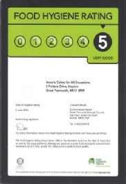 Food Hygiene Rating 5, Anne's Cakes For All Occasions, Norfolk, Suffolk, East Anglia